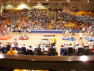 Rebound Rumble - The field at the beginning of a match at the West Michigan district