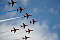 Red Arrows, Southend Air Show 2011. (5773426413).jpg