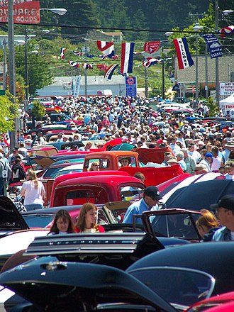 Fortuna, California - Twenty thousand visitors fill the town during Fortuna's  Redwood AutoXpo