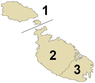 Regions of Malta - Image: Regiones de Malta