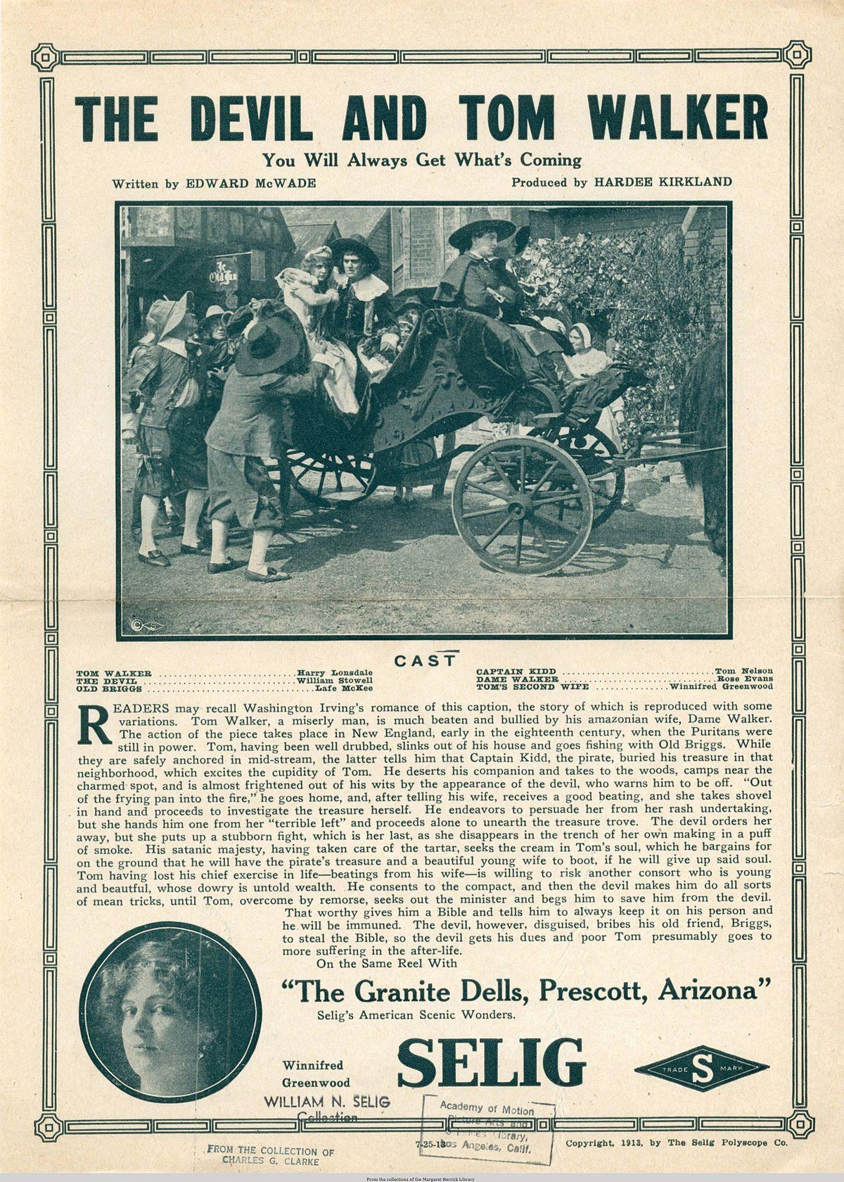 the devil and tom walker  film 1913