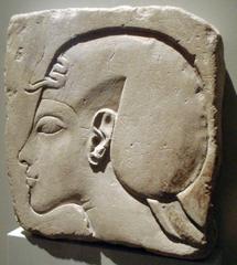 Reliefskizze mit Kopf des Echnaton