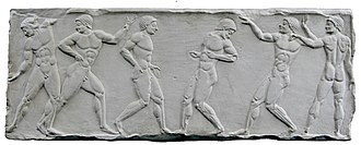 Olympiad - A relief of the Greek Olympiad.