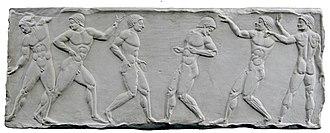 Olympiad - A relief of the Greek Olympiad.