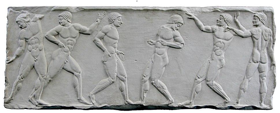 Relief greek ballplayers 500bC