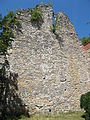 Remains of Franciscan Church of St Clare. Wall (E). Listed ID 1195. It was a palatine holiday, later became a hostel. Many celebrities lived here in the 1920s. - Budapest.JPG