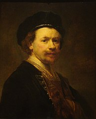 Self-portrait wearing a beret