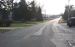 Looking south in Rhine Center
