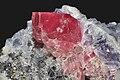 Rhodocrosite, quartz, fluorine (=fluorite) violette 1(USA).jpg