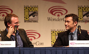 Looper (film) - Rian Johnson and Joseph Gordon-Levitt speaking at WonderCon 2012 in promotion of Looper.