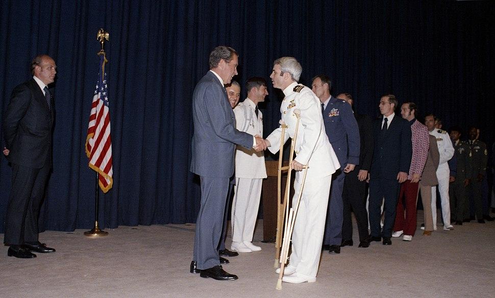 Richard Nixon Greets John McCain