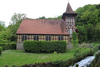 Burrington, Somerset - Old Methodist chapel at Rickford. Now a masonic lodge