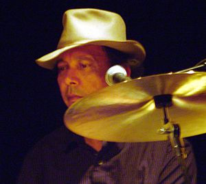 Ricky Fataar - Ricky Fataar behind the drums in 2008