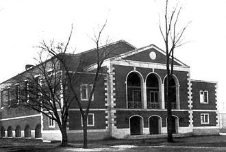 Ridley College - The Iggulden Gym at Ridley College in the 1940s.