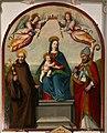 Ridolfo del ghirlandaio, madonna in trono col bambino e i ss. giovanni gualberto e agostino, 02.jpg
