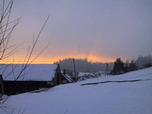 Sunset in Riebeis (Waldviertel/Austria)