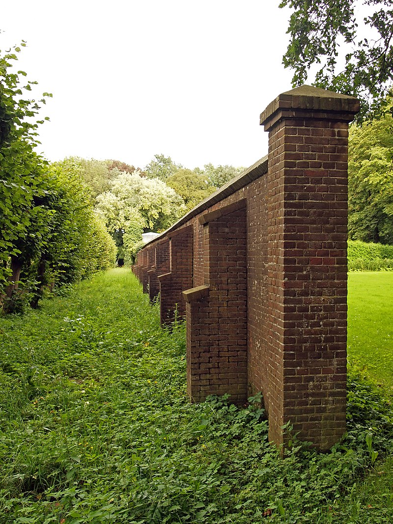 tuinmuur rechte fruitmuur Landgoed Neijenrode in Breukelen