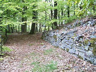 Allenbach - Entrance to ringwall near Allenbach