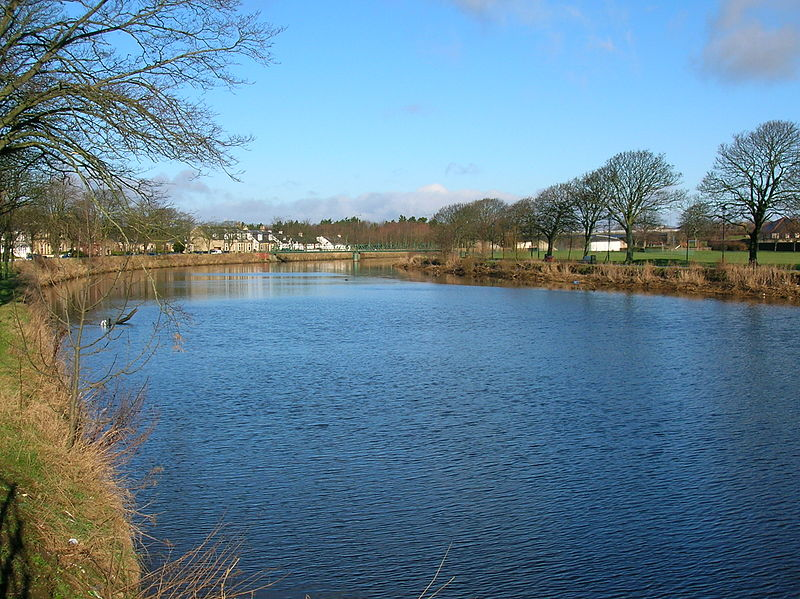 The River Irvine at Low Green, Irvine