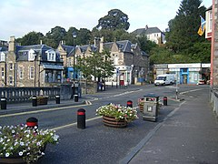 Road Junction From Bridge Dunblane Geograph Org Uk