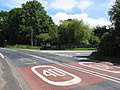 Road junction with speed limit reminders, Kilcot - geograph.org.uk - 492857.jpg