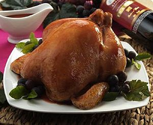 English: Roasted chicken Español: Pollo asado