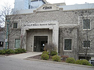 Robarts Research Institute - The building's main entrance.