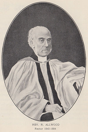 Robert Allwood - The Reverend Robert Allwood, Rector of St James' Church, Sydney (1840-1884)