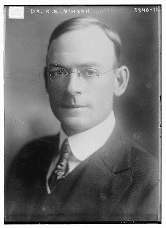 Robert Ernest Vinson - Robert Ernest Vinson in 1916.