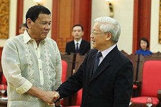 Nguyễn Phú Trọng - Trong meets Philippine President Rodrigo Duterte, 29 September 2016