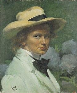 Roederstein 1904 Selbstportrait mit weissem Hut.jpg