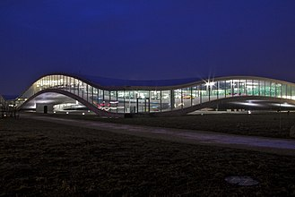 Rolex Learning Center - EPFL Learning Centre, in 2012.