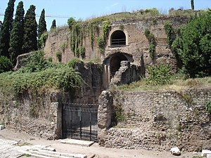Roman funerary art - Front facade of the Mausoleum of Augustus