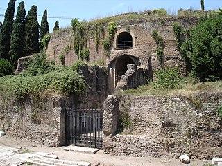 Mausoleum of Augustus building in Campo Marzio, Italy
