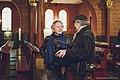 """Roman Polański i Ryszard Horowitz na planie filmu """"Polanski, Horowitz. Czarodzieje z getta"""".jpg"""