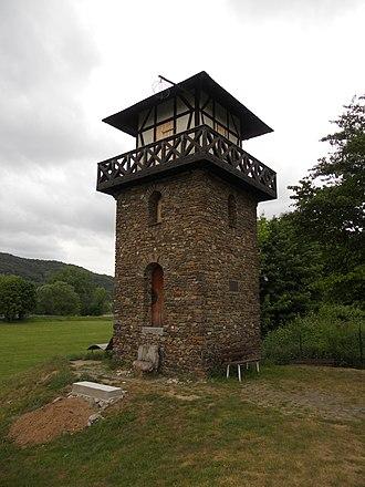 Bad Hönningen - Reconstruction of a Roman watchtower, Bad Hönningen