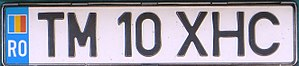 Vehicle registration plates of Romania - Romanian license plate issued between 1992-2007