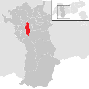 Location of the municipality of Roppen in the Imst district (clickable map)
