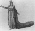 Rossini - Elisabetta regina d'Inghilterra - Isabella Colbran as Elisabetta - watercolor by Giacomo Pregliasco - Teatro San Carlo - Naples 1815.png