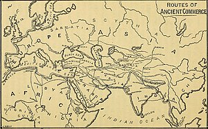 Spice use in Antiquity - Routes of ancient commerce.
