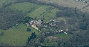 Rowneybury House - Rowneybury House from the air