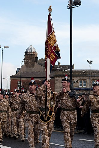 Royal Regiment of Fusiliers - The Fusiliers march in Rochdale