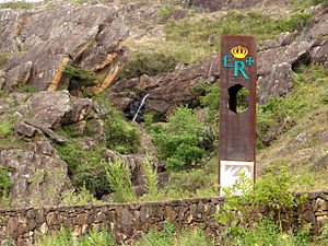Estrada Real - Royal Road marker between Tiradentes and São João del Rei