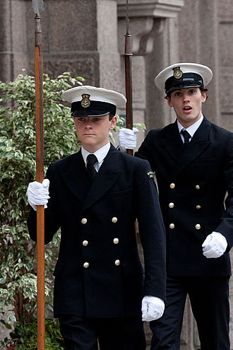 Combined Cadet Force - Royal Navy Cadets, during a Royal Visit at Victoria College, Jersey