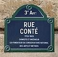 Rue Conté (Paris) en juin 2019 - panneau de rue.jpg