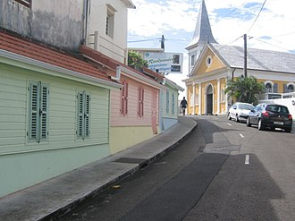Grand'Rivière - Main street in Grand'Rivière