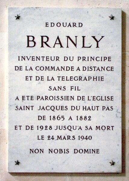 File:Rue saint-Jacques Eglise saint-Jacques Branly commemorative plate.JPG