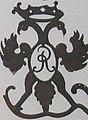 Ruhland, Wappendarstellung in Wetterfahne der Kirche.jpg