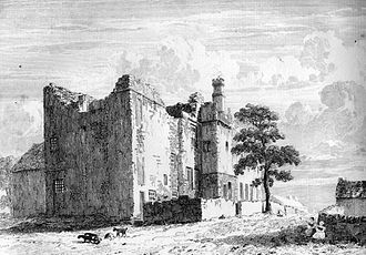 George Talbot, 4th Earl of Shrewsbury - Ruins of Sheffield Manor, c.1819