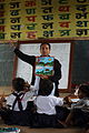 Rukmini Bhattarai is a teacher at the Shree Sahara Bal Primary School, Pokhara , grade1, Pokhara, Nepal. (10717787336).jpg